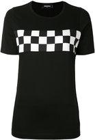 DSQUARED2 checkered T-shirt - women - Cotton - XS