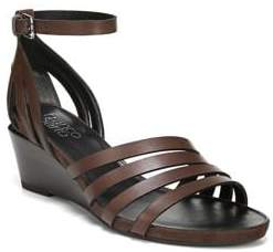 Franco Sarto Della Leather Wedge Sandals