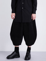 Comme des Garcons Wide cropped regular-fit fleece trousers