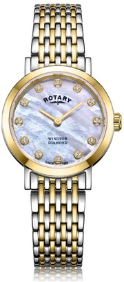 Rotary Watches Two Tone Gold Windsor Diamonds Ladies