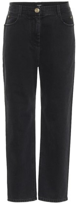 Balmain High-rise straight-fit jeans