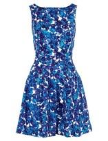 Thakoon Blue Floral Criss Cross Dress