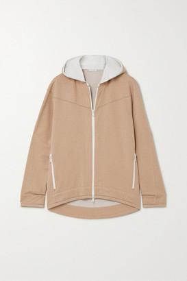 Brunello Cucinelli Bead-embellished Cotton-blend Jersey Hoodie - Sand