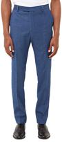 Jaeger Fish Scale Weave Slim Fit Suit Trousers, Blue