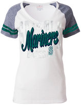 5th & Ocean Women's Seattle Mariners White Hot T-Shirt