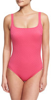 Gottex Diamond In The Rough One-Piece Swimsuit, Pink