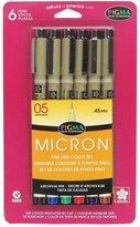Sakura 30065 6-Piece Pigma Micron 05 Ink Pen Set, Assorted Colors