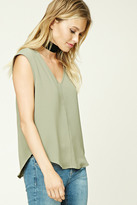Forever 21 FOREVER 21+ Contemporary Cap-Sleeved Top