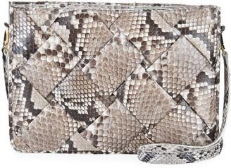 Nancy Gonzalez Small Woven Soft Python Crossbody Bag