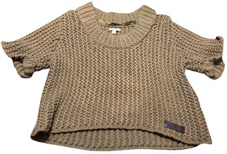 Burberry Beige Cotton Knitwear for Women
