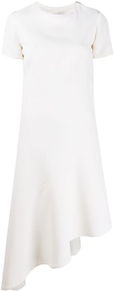 Courreges Diagonal-Cut Midi Dress