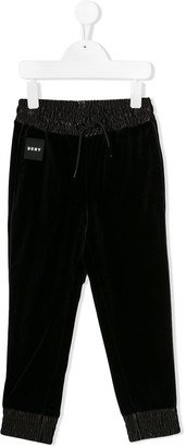 DKNY Logo Embroidered Track Pants