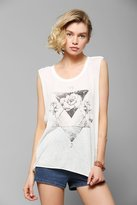 Urban Outfitters Black Moon Rose Triangle Muscle Tee