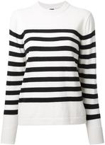 H Beauty&Youth striped crew neck jumper