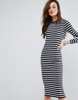 G Star G-Star Stripe Midi Dress