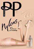 Pretty Polly Women's Nylons Gloss Stockings 10 DEN Tights,Medium (Manufacturer Size:)