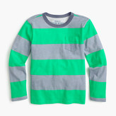 J.Crew Boys' long-sleeve striped ringer T-shirt