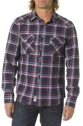 Silver Jeans Men's Blue Plaid Flannel Button Up Shirt Large