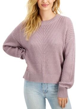 Freshman Juniors' Diagonal Ribbed Sweater