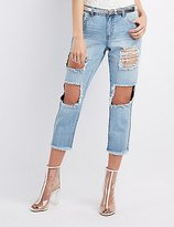 Charlotte Russe Refuge Boyfriend Destroyed Jeans