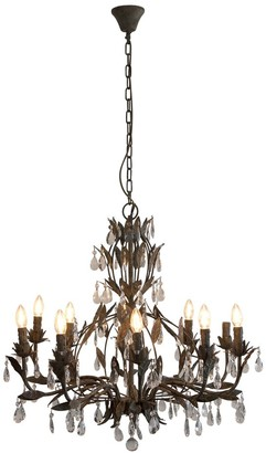 One World Taupe Large Chandelier