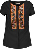 Etro Bead-embellished silk-crepe shirt
