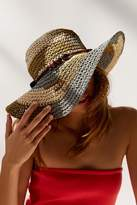 Urban Outfitters Striped Raffia Floppy Hat