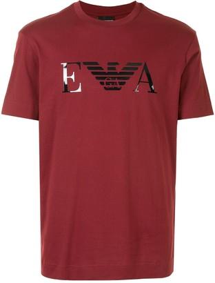 Emporio Armani glossy logo T-shirt