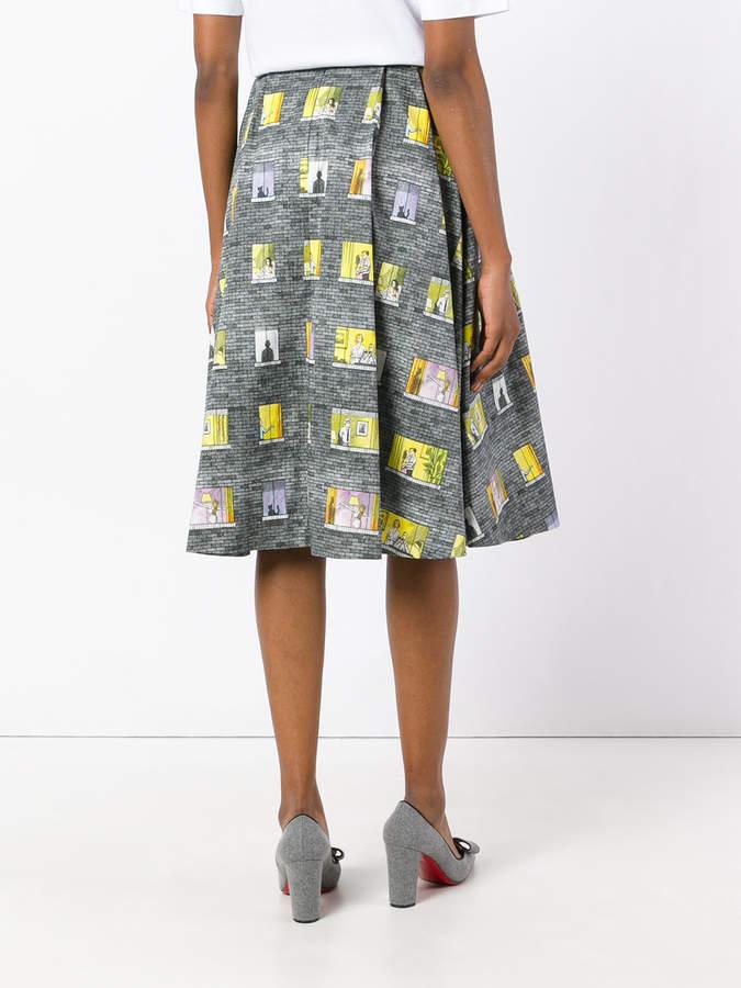 Olympia Le-Tan window motif skirt