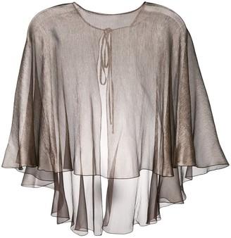 Maria Lucia Hohan floaty metallic cape