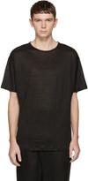 Isabel Benenato Black Linen T-shirt