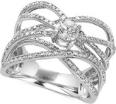 Effy Pavé Classica by Diamond Crisscross Ring (9/10 ct. t.w.) in 14k White Gold