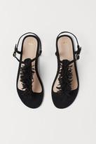 H&M Sandals with Fringe - Black