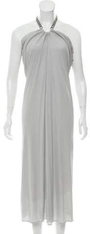 Alexander McQueen One-Shoulder Maxi Dress