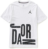 Jordan Big Boys 8-20 Oversized All Shoe Short-Sleeve Graphic Tee