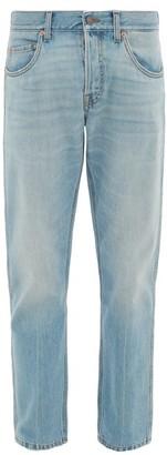 Gucci Band Straight-leg Jeans - Mens - Light Blue