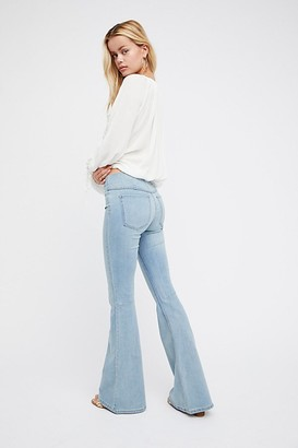 We The Free Penny Pull-On Flare Jeans by at Free People