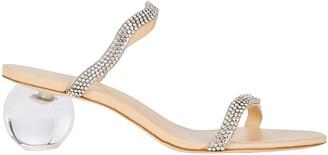 Cult Gaia Aubrey Rhinestone Slide Sandals
