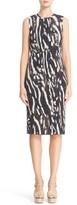 Max Mara Women's Nespola Print Plisse Jersey Dress