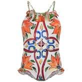 Dolce & Gabbana Dolce & GabbanaBaby Girls Maiolica Swimsuit
