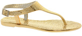 River Island Gold Jelly Sandals