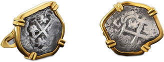 Jorge Adeler Men's Princess Louisa Ancient Coin 18K Gold Cufflinks