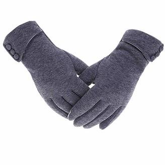 Secator Womens Touch Screen Phone Fleece Windproof Gloves Winter Warm Wear (Grey)