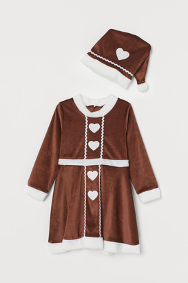 H&M Gingerbread dress and hat