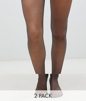 Gipsy soft luxury gloss 15 denier 2 pack in black