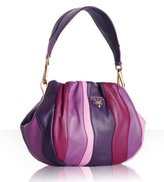 violet lambskin 'Stripes' small bag
