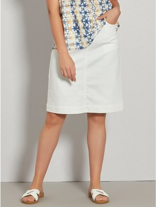 M&Co Twill A-line skirt