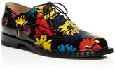 Moschino Floral Print Lace Up Oxfords