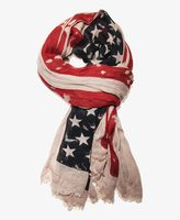 Forever 21 Distressed American Flag Scarf