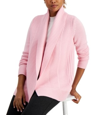 Charter Club Shawl-Collar Open-Front Cardigan, Created for Macy's